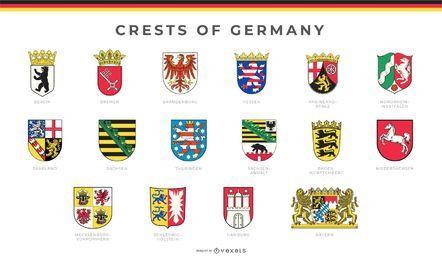 Conjunto de cristas da Alemanha