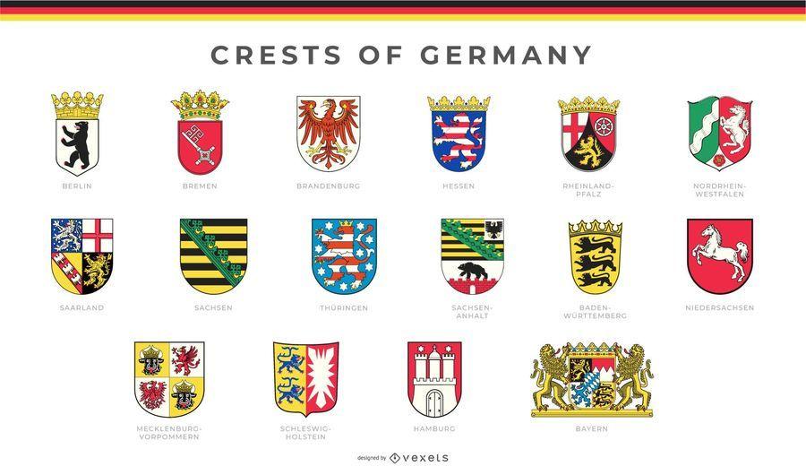 Conjunto De Las Crestas De Alemania