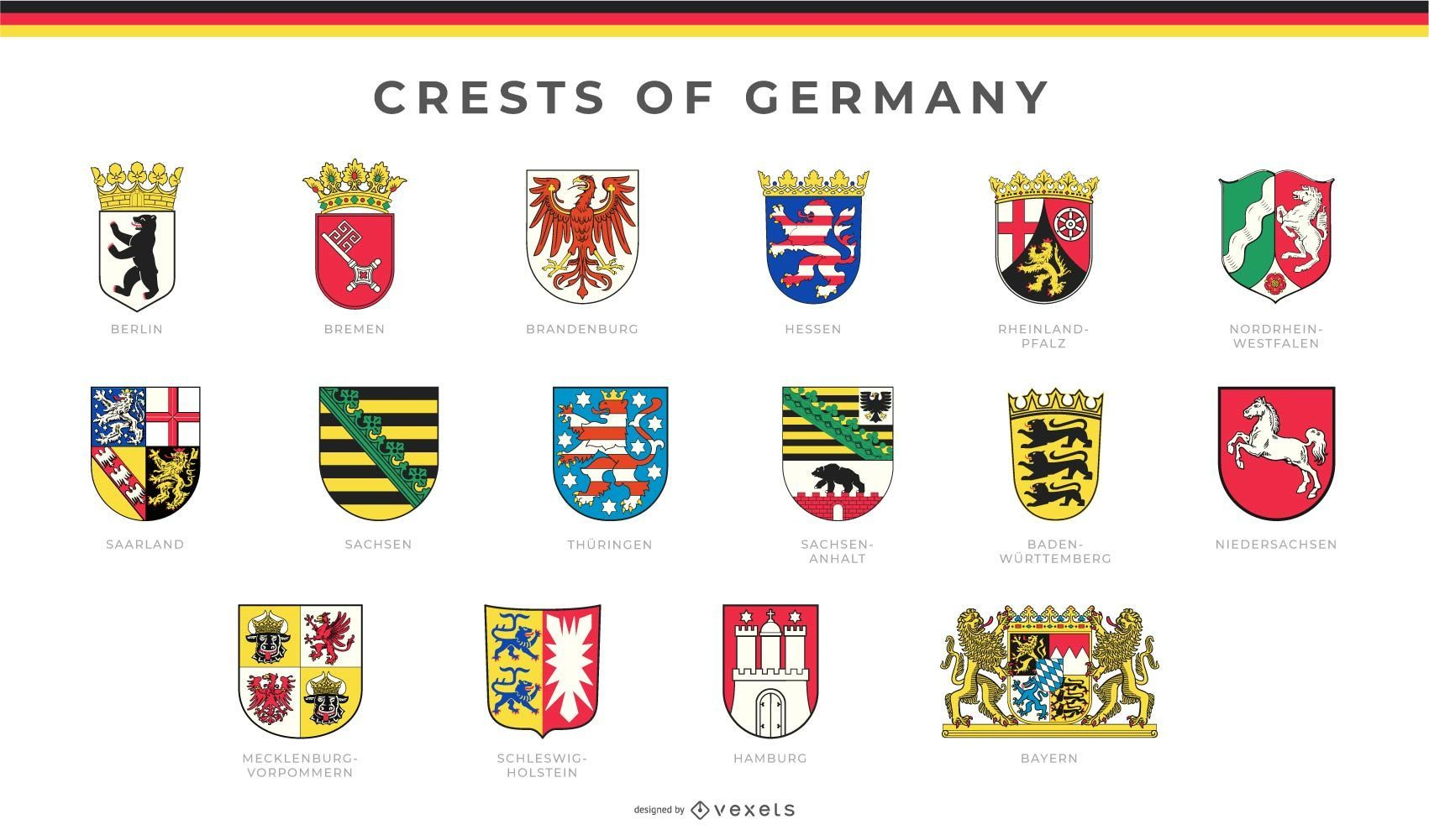 Crests Of Germany Set