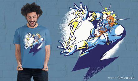 Diseño de camiseta Zeus Cartoon