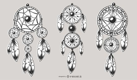 Conjunto de Design de apanhador de sonhos
