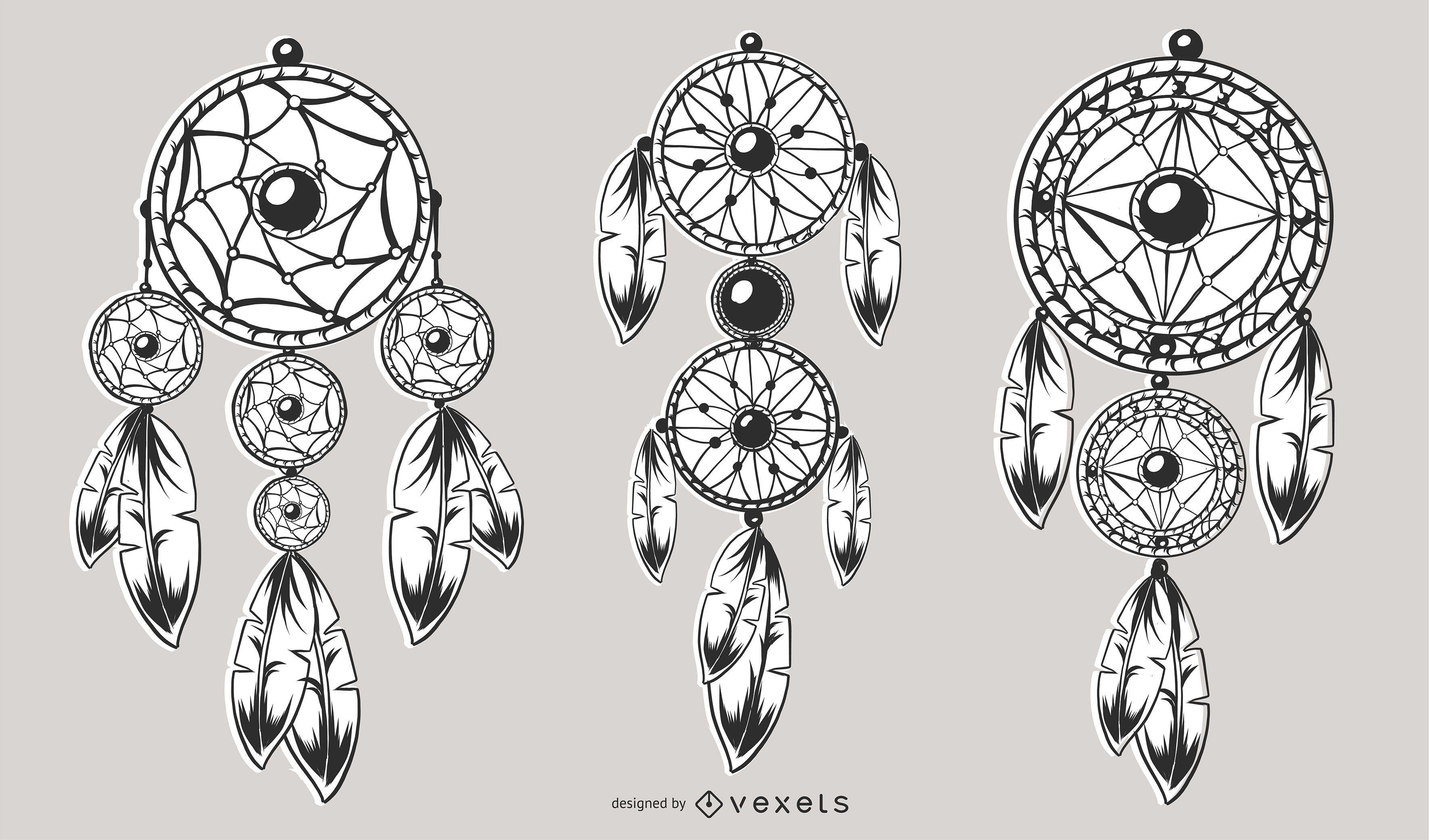 Conjunto de diseño de atrapasueños