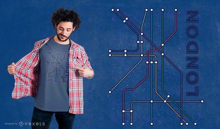 Projeto subterrâneo do t-shirt de Londres
