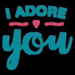 Adoro você lettering