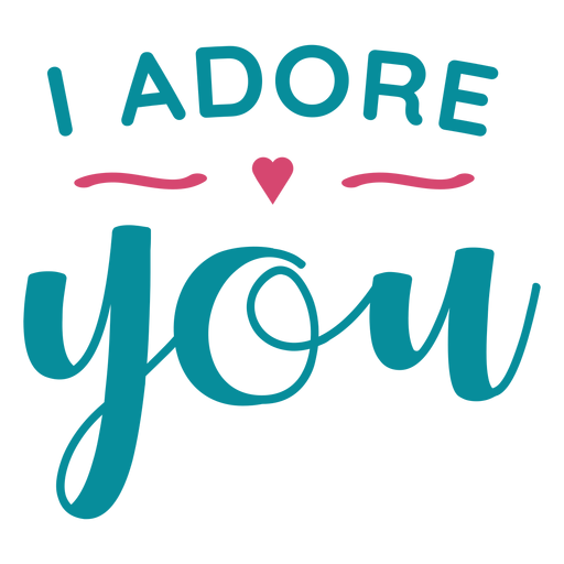 Adore you lettering Transparent PNG