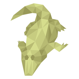 Alligator lying low poly