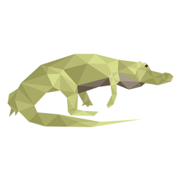 Alligator walking low poly