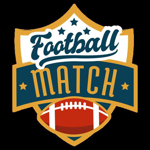 Distintivo de futebol americano Transparent PNG