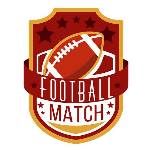 American football lettering Transparent PNG