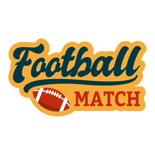 American football sticker Transparent PNG