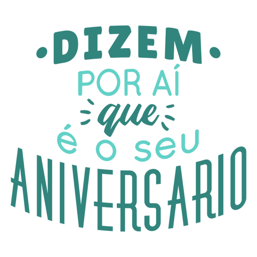 Aniversario lettering birthday lettering Transparent PNG