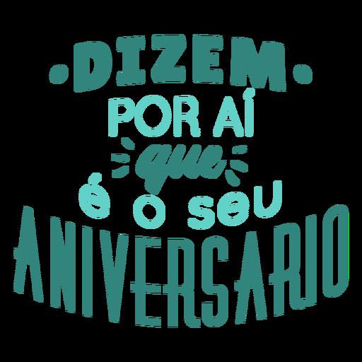 Aniversario lettering letras de aniversário Transparent PNG