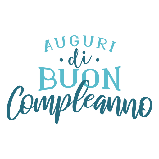 Auguri di buon compleanno lettering Transparent PNG
