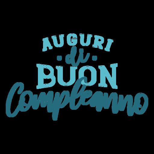 Letras de Auguri di buon compleanno Transparent PNG