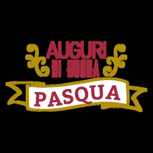 Letras de Auguri di buona pasqua Transparent PNG