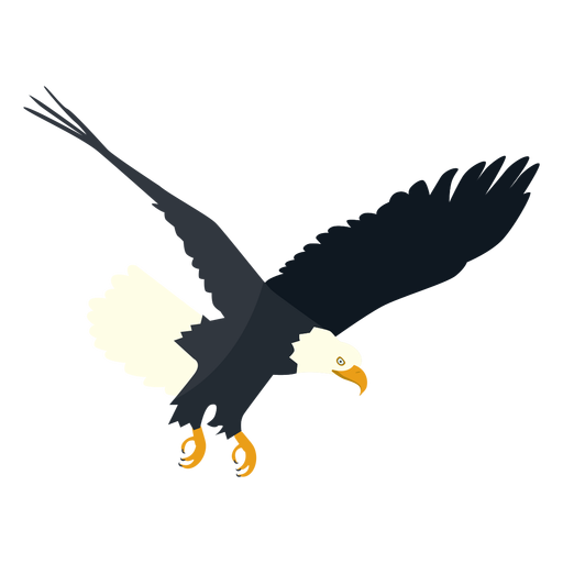 Bald eagle diving flat Transparent PNG