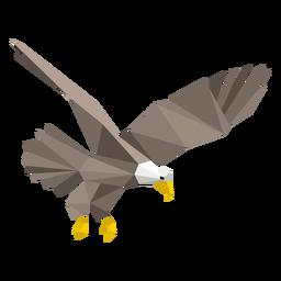 Águila calva buceando lowpoly