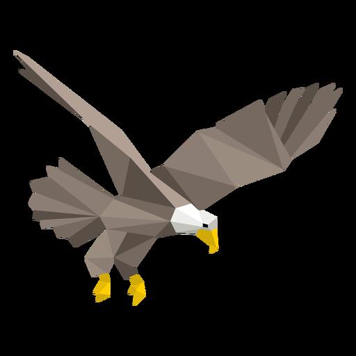 Águila calva buceando lowpoly Transparent PNG