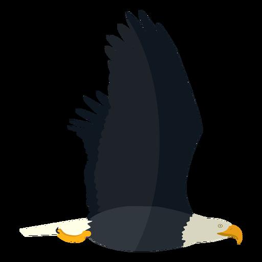 Bald eagle flying flat Transparent PNG