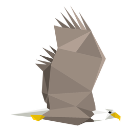Bald eagle flying lowpoly