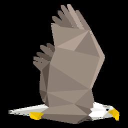 Weißkopfseeadler fliegt lowpoly