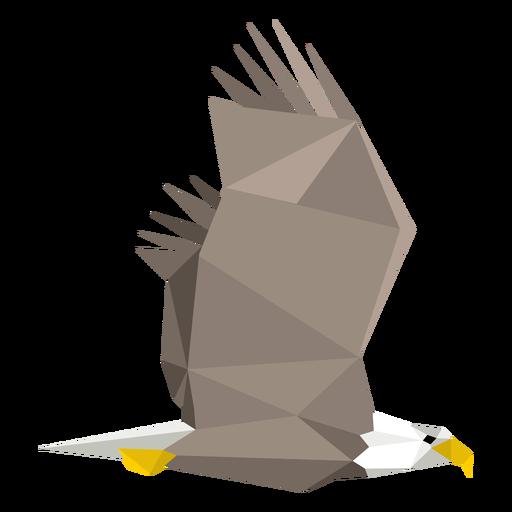 Águila calva volando lowpoly Transparent PNG