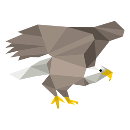 Bald eagle low poly