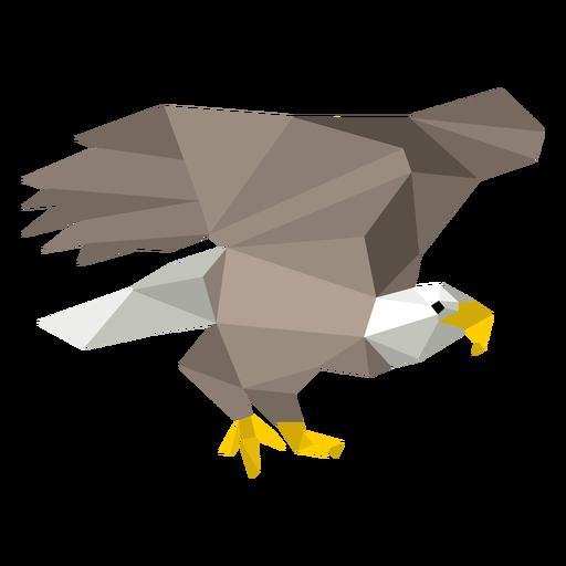 Águila calva baja poli Transparent PNG