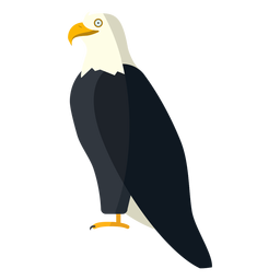 Bald eagle side view flat