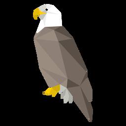 Vista lateral del águila calva lowpoly