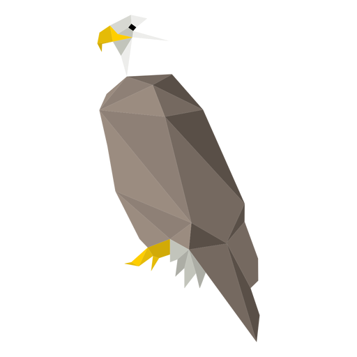 Bald eagle side view lowpoly Transparent PNG