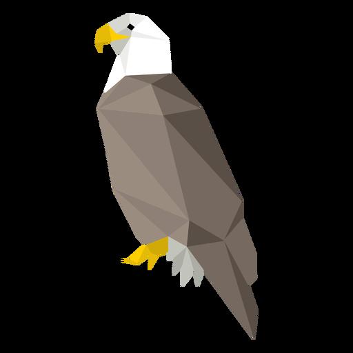 Vista lateral del águila calva lowpoly Transparent PNG