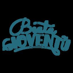 Beata gioventu lettering