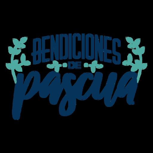 Letras de bendiciones de pascua Transparent PNG