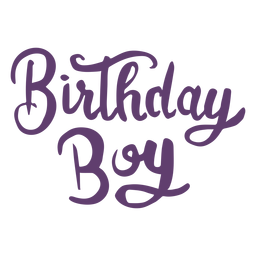 Birthday boy lettering