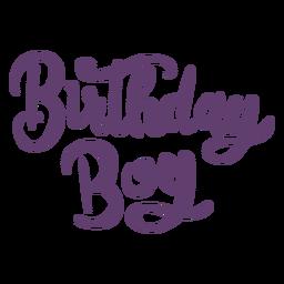 Geburtstagskind-Schriftzug