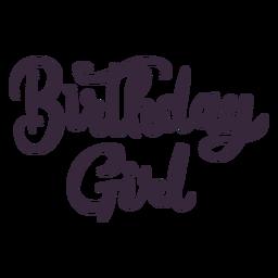 Geburtstag Mädchen Schriftzug