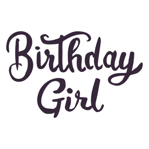 Birthday girl lettering Transparent PNG