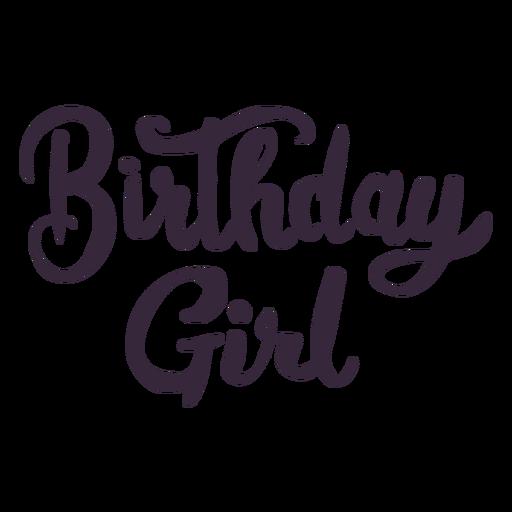 Letras de garota de aniversário Transparent PNG