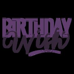 Letras de deseo de cumpleaños