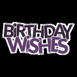 Aniversário deseja lettering