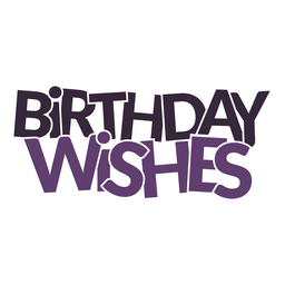 Birthday wishes lettering