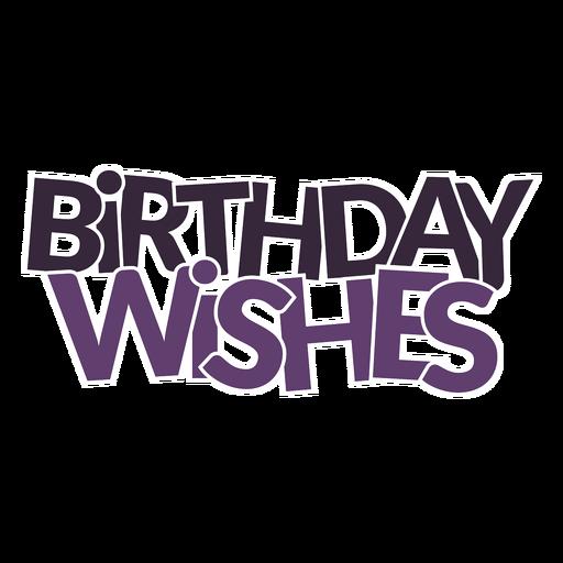 Aniversário deseja lettering Transparent PNG