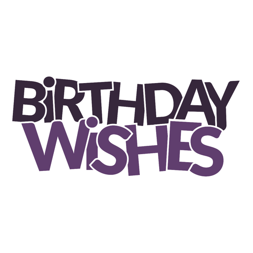 Birthday wishes lettering Transparent PNG