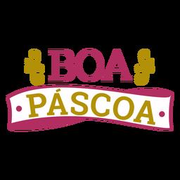 Boa pascoa lettering