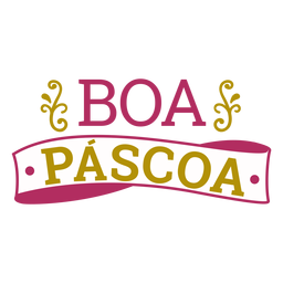 Boa Pascoa-Schriftzug