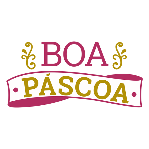Boa pascoa lettering Transparent PNG