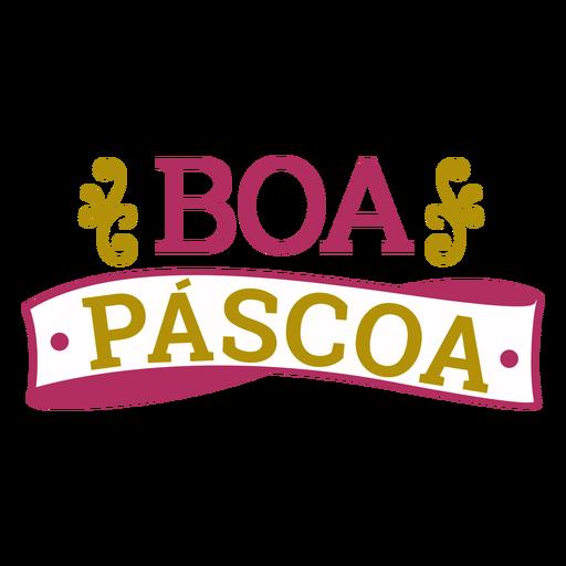 Letras de boa pascoa Transparent PNG