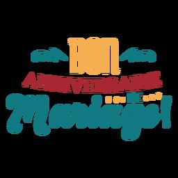 Bon anniversaire de mariage lettering
