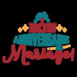Letras de anniversaire Bon